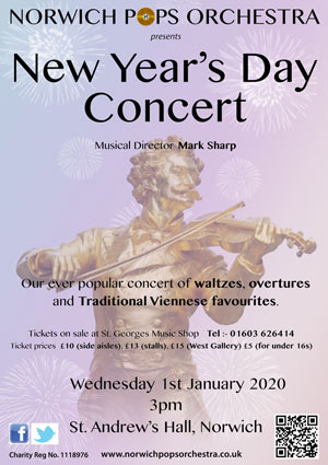 Norwich Pops Orchestra New Year's Day 2020
